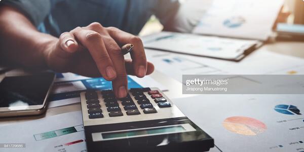 Person Calculating